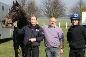 Zebedee  colt with stable lass Alex, Dean and Robert
