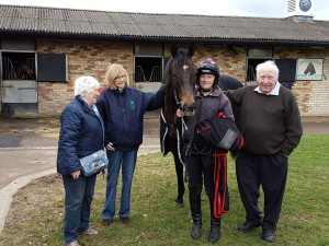 Zebedee colt with Alex and new owners