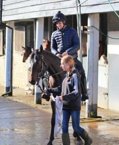 Jack Duern riding Garswood colt