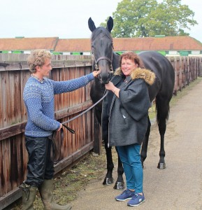 Wootton Bassett filly with a new fan!