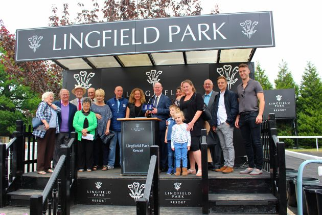 Number 10 Solario Racing (Berkhamsted) on the podium @ Lingfield 29 May 2018 resized