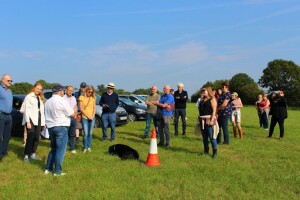 Dean holding court on the gallops